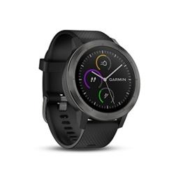 Garmin vívoactive 3 GPS-Fitness-Smartwatch – 24/7 Herzfrequenzmessung am Handgelenk, vorinstallierte Sport-Apps, integriertes GPS, Mobile Payment via NFC - 1