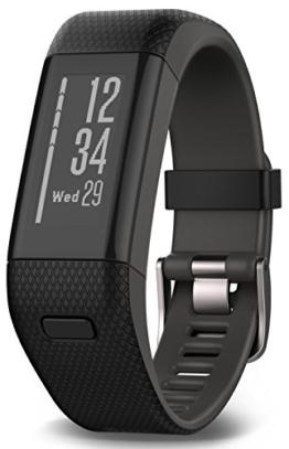 Garmin vívosmart HR+ Fitness-Tracker - GPS-fähig, Herzfrequenzmessung am Handgelenk, Smart Notifications Black, M - L, 010-01955-30 - 1