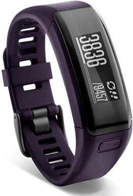 Garmin vívosmart HR Fitness-Tracker - integrierte Herzfrequenzmessung am Handgelenk, Smart Notifications, Purple, M - L (13,7-18,8 cm) - 1