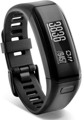 Garmin vívosmart HR Fitness-Tracker - integrierte Herzfrequenzmessung am Handgelenk, Smart Notifications, Schwarz, M - L (13,7-18,8 cm) - 1