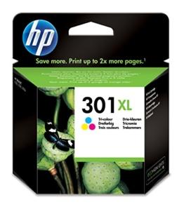 HP 301XL Farbe Original Druckerpatrone mit hoher Reichweite für HP Deskjet, HP ENVY, HP Photosmart - 1