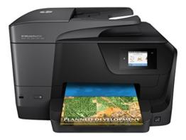 HP OfficeJet Pro 8710 Multifunktionsdrucker (A4, Drucker, Scanner, Kopierer, Fax, WLAN, LAN, Duplex, Instant Ink kompatibel, HP ePrint, Airprint, Cloud Print, USB, 1200 x 1200 dpi) schwarz - 1