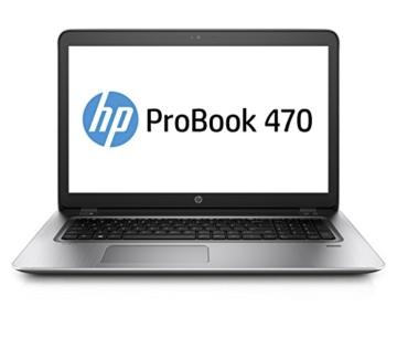 HP ProBook 470 G4 (1LT85ES) 43,9 cm (17,3 Zoll / Full-HD) Business Laptop (Notebook mit: Intel Core i7-7500U, NVIDIA GeForce 930MX, 16 GB RAM, 128 GB SSD, 1 TB HDD, DVD-RW, Windows 10 Home) silber - 1
