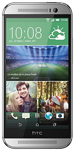 HTC One M8 Smartphone (5 Zoll (12,7 cm) Touch-Display, 16 GB Speicher, Android 4.4.2) silber - 1