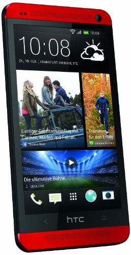 HTC One Smartphone (4,7 Zoll (11,9 cm) HD-Display, Quad-Core, 1,7GHz, 32GB, 4 Ultrapixel Kamera, Android OS) rot - 1