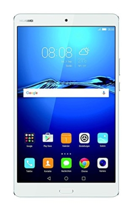 HUAWEI MediaPad M3 21,33 cm (8,4 Zoll) Tablet-PC (WiFi, Fingerabdrucksensor, OctaCore Prozessor, 4 GB RAM, 32 GB interner Speicher, Android 6.0, EMUI 4.1) silber - 1
