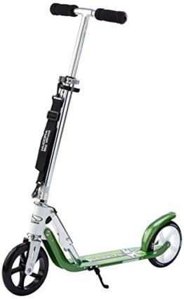 HUDORA Big Wheel 180 Scooter, Tret-Roller - City-Scooter klappbar, weiß/grün, 14767 - 1