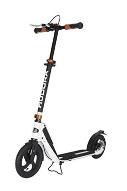 HUDORA Big Wheel Air Dual Brake Luftreifen-Scooter 230 mm, Handbremse Tret-Roller, City Scooter, 14035 - 1