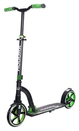 HUDORA Big Wheel Scooter Flex 200, Tret-Roller Stoßdämpfung - City-Scooter, grün, 14248 - 1