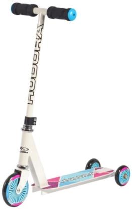 HUDORA Kinder-Roller Evolution Girl Scooter Kinder, weiß, Umstellbarer Scooter für Kinder, 22016 - 1