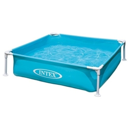 Intex Kinderpool Frame Pool Mini, Blau, 122 x 122 x 30 cm - 1