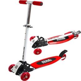 Kickboard-Scooter Rot - Roller Kinderroller Tretroller Kinderscooter - 1