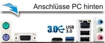 Komplett Flüster-PC Paket Intel Quad-Core Office/Multimedia shinobee Computer mit 3 Jahren Garantie! inkl. Windows10 Professional - INTEL Quad Core 4x2.41 GHz, 8GB RAM, 500GB HDD, Intel HD Graphics, USB 3.0, HDMI, VGA, Office, 22-Zoll LED TFT Monitor, Tastatur+Maus #5001 - 2
