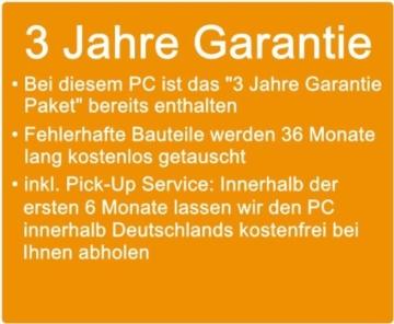 Komplett Flüster-PC Paket Intel Quad-Core Office/Multimedia shinobee Computer mit 3 Jahren Garantie! inkl. Windows10 Professional - INTEL Quad Core 4x2.41 GHz, 8GB RAM, 500GB HDD, Intel HD Graphics, USB 3.0, HDMI, VGA, Office, 22-Zoll LED TFT Monitor, Tastatur+Maus #5001 - 3