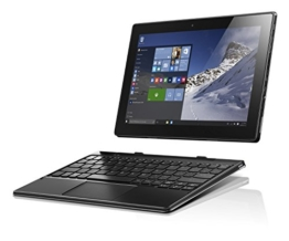 Lenovo Miix 310 25,65 cm (10,1 Zoll HD) Tablet PC (Intel Atom x5-Z8350 Quad-Core Prozessor, 4GB RAM, 64GB eMMC, Intel HD Grafik, Touchscreen, Windows 10) silber inkl. AccuType QWERTZ  Tastatur - 1