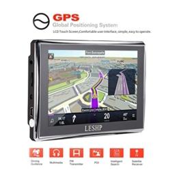 LESHP Europe Traffic Auto GPS Navigation 5 Zoll Touchscreen mit FM 8GB / 128M für Europa für das Leben - 1