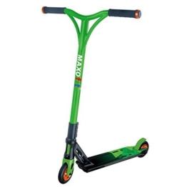 MAXOfit® Deluxe Stuntscooter Greenline bis 100 kg, sehr robust mit ABEC 9 Kugellagern, 4-fach verschraubt, 63961 - 1