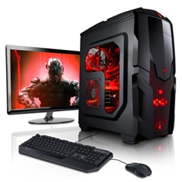 "Megaport Gaming-PC Komplett-PC Vollausstattung AMD FX-6300 6x3,50 • Nvidia GeForce GTX1050 • 22"" LED Bildschirm Asus • Tastatur+Maus • 8GB • 1TB • Windows 10 • Gamer PC • Gaming Computer • Desktop PC - 1"
