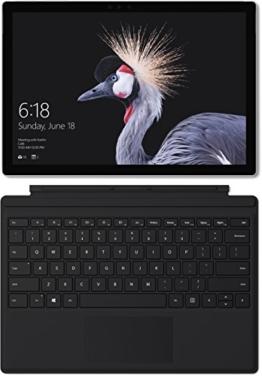 Microsoft Surface Pro (12,3 Zoll) Notebook (Intel Core m3, 4 GB RAM, 128 GB SSD, Windows 10 Pro) silber, ohne Stift + Surface Pro Type Cover schwarz - 1