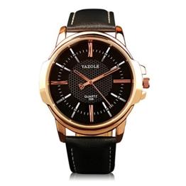 Military Watch Relogio Masculino Men Casual Uhr Luxus Top Marken-Leder-Mann-Armbanduhr - 1