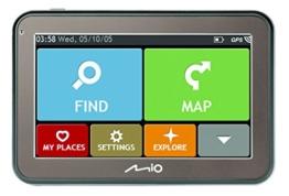 Mio 5670 Spirit Auto-Navigation TMC Bluetooth Full Europe Lifetime schwarz - 1