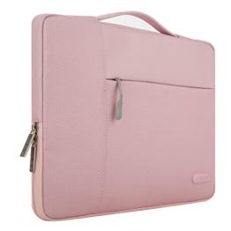 MOSISO Tasche Sleeve Hülle für 13-13,3 Zoll MacBook Pro, MacBook Air, Notebook Computer Multifunktionshülsen Spritzwasserfest Laptoptasche Notebooktasche Aktentaschen Handtaschen Kasten mit zusätzlichem Stauraum Polyester Schutzhülle, Pink - 1