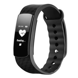 Mpow Fitness Tracker mit Pulsmesser Bluetooth 4.0 Smart-Herzfrequenz Monitor Schrittzähler Schlafanalyse Aktivitätstracker Kalorienzähler Schlaftracker für Android und iOS Smart Phones. - 1