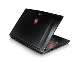 MSI GE62VR-6RFAC16H21 39,6cm (15,6 Zoll) Full HD Notebook (Intel Core i7-6700HQ, 16 GB RAM, 256 GB SSD + 1 TB HDD, NVIDIA GeForce GTX1060, Windows 10 Home) schwarz GE62 - 1