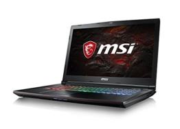 MSI GE72MVR 7RG-009DE Apache Pro (43,94cm/17,3 Zoll/120Hz) Gaming-Notebook (Intel Core i7-7700HQ Kabylake, 16GB RAM, 256GB SSD + 1TB HDD, Nvidia GeForce GTX1070, Windows 10) schwarz GE72 - 1