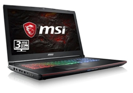 MSI GE72MVR 7RG-069DE Apache Pro (43,9 cm/17,3 Zoll/120Hz) Gaming-Notebook (Intel Core i7-7700HQ, 16GB RAM, 256 GB SSD + 1 TB HDD, Nvidia GeForce GTX 1070 mit 8GB, Windows 10 Home) schwarz GE72 - 1