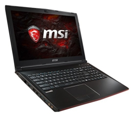 MSI GP62 7RD-090DE Leopard (39,6 cm/15,6 Zoll) Gaming-Notebook (Intel Core i7-7700HQ, 16GB RAM, 1 TB HDD + 256 GB SSD, Nvidia GeForce GTX 1050, Windows 10 Home) schwarz - 1