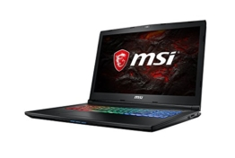 MSI GP72MVR 7RFX-631DE Leopard Pro (43,9 cm/17,3 Zoll) Gaming-Notebook (Intel Core i7-7700HQ, 16GB RAM, 256 GB SSD +  1 TB HDD, Nvidia GeForce GTX 1060, Windows 10 Home) schwarz GP72 - 1