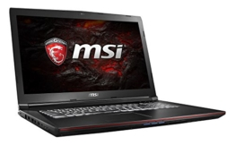 MSI GP72VR 7RF-268DE Leopard Pro (43,9 cm/17,3 Zoll) Gaming-Notebook (Intel Core i7-7700HQ 16GB RAM, 1 TB HDD + 256 GB SSD, Nvidia GeForce GTX 1060, Windows 10 Home) schwarz GP72 - 1