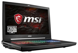 MSI GT73EVR 7RE-838DE Titan (43,9 cm/17,3 Zoll/120Hz) Gaming-Notebook (Intel Core i7-7700HQ, 16GB RAM, 256 GB PCIe SSD +  1 TB HDD, Nvidia GeForce GTX 1070, Windows 10 Home) schwarz GT73 - 1