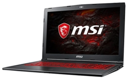 MSI GV62 7RD-1626DE (39,6 cm/15,6 Zoll) Gaming-Notebook (Intel Core i7-7700HQ, 8GB RAM, 256 GB SSD + 1 TB HDD, Nvidia GeForce GTX 1050, Windows 10 Home) schwarz - 1