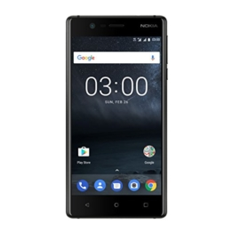 Nokia 3 DUAL SIM (12,7 cm (5 Zoll), 16GB, 8MP Kamera, Android) matt schwarz - 1
