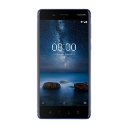 Nokia 8 Smartphone (5,3 Zoll IPS QHD Display, 128GB ROM, 6GB RAM, 13 MP Kamera, spritzgeschützt (IP54), SINGLE Sim, Android pure) glossy blue - 1