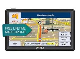 OHREX 712CL 7 Zoll Auto GPS Navigationsgeräte Navigation Mit Bluetooth AV IN, SpeedCam Spurunterstützung Und Freie Lebenszeit Europa UK Karten Updates - 1
