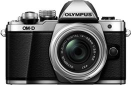Olympus OM-D E-M10 Mark II Systemkamera (16 Megapixel, 5-Achsen VCM BildsTabilisator, elektronischer Sucher mit 2,36 Mio. OLED, Full-HD, WLAN, Metallgehäuse) Kit inkl. 14-42mm II R Objektiv silber - 1