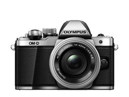 Olympus OM-D E-M10 Mark II Systemkamera (16 Megapixel, 5-Achsen VCM BildsTabilisator, elektronischer Sucher mit 2,36 Mio. OLED, Full-HD, WLAN, Metallgehäuse) Kit inkl. 14-42mm Objektiv silber - 1