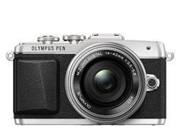 Olympus PEN E-PL7 Kompakte Systemkamera (16 Megapixel, elektrischer Zoom, Full HD, 7,6 cm (3 Zoll) Display, Wifi) inkl. 14-42 mm Pancake Objektiv silber/silber - 1