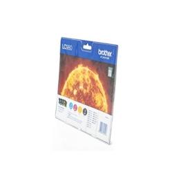 Original Tinte Brother LC-980VALBPDR - 4x Premium Drucker-Patrone - Schwarz, Cyan, Magenta, Gelb - 1 x 360 & 3 x 260 Seiten - 1 x 6 & 3 x 5,5 ml - 1