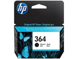Original Tinte HP 364 , NO 364 , Nr 364CB 316 EE , CB316EE , CB316EEABB , CB316EEABE , CN 680 E - Premium Drucker-Patrone - Schwarz - 250 Seiten - 6 ml - 1