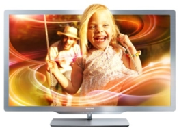 Philips 37PFL7606K/02 94 cm (37 Zoll) Ambilight 3D LED-Backlight-Fernseher (Full-HD, 400 Hz PMR, DVB-T/C/S, Smart TV) silbergrau - 1