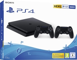 PlayStation 4 - Konsole (500GB, schwarz, E-Chassis) inkl. 2. DualShock Controller - 1