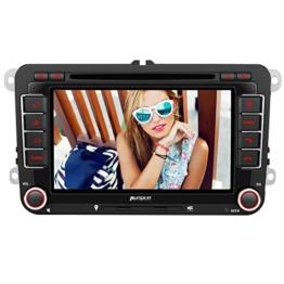 PUMPKIN 2 Din Autoradio DVD Player mit GPS Navigation 7 Zoll Touch Screen für VW Volkswagen SEAT SKODA Jetta Golf Passat Polo unterstützt Bluetooth USB SD CD CanBus Lenkradsteurung - 1