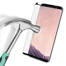Samsung Galaxy S8 Plus Panzerglasfolie, SOCU 3D Coverage Gehärtetem Glas schutzfolie Displayschutzfolie für SAMUNG Galaxy S8 Plus schwarz [ Lebenslange Garantie] - 1
