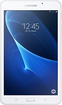Samsung GALAXY Tab A (2016) 17,8 cm (7 Zoll) Tablet PC (1,3 GHz Quad Core 1,5GB RAM 8GB HDD WiFi Android 5,1) weiß - 1