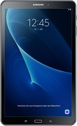 Samsung Galaxy Tab A (2016) T580 25,54 cm (10,1 Zoll) WiFi Tablet PC (Octa Core 2GB RAM Android 6,0 neue Version) schwarz - 1