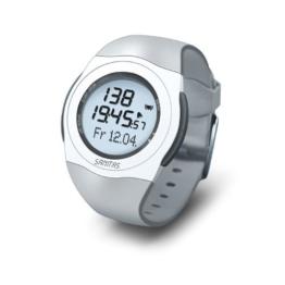 Sanitas SPM 25 Pulsuhr, EKG-genaue Herzfrequenzmessung, wasserdicht bis 30 Meter, Grau - 1